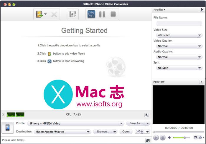 [Mac]将视频转换成iPhone支持的MP4格式 : Xilisoft iPhone Video Converter