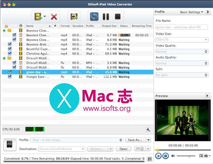 [Mac]将视频转换成iPad可以播放的视频格式 :Xilisoft iPad Video Converter