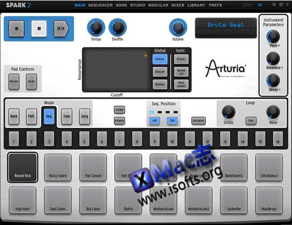[Mac]软硬结合鼓机 : Arturia Spark