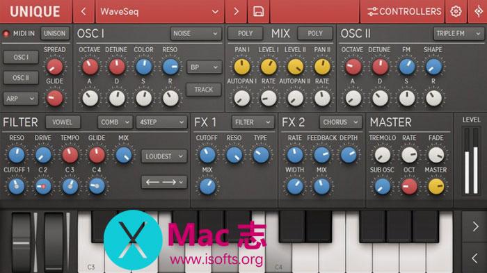 [Mac]经典的音频模拟合成器 : Sugar Bytes Unique