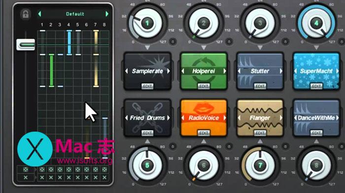[Mac]大量实时的音频处理工具 :Sugar Bytes Turnado