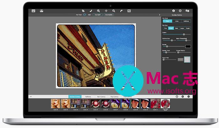 [Mac]照片漫画风格处理软件 :JixiPix Pop Dot Comics
