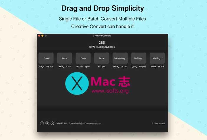 [Mac] PDF/Ai/PSD/EPS文件格式互转工具 : Creative Convert