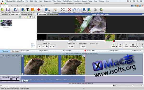 [Mac]视频编辑处理工具:NCH Software VideoPad