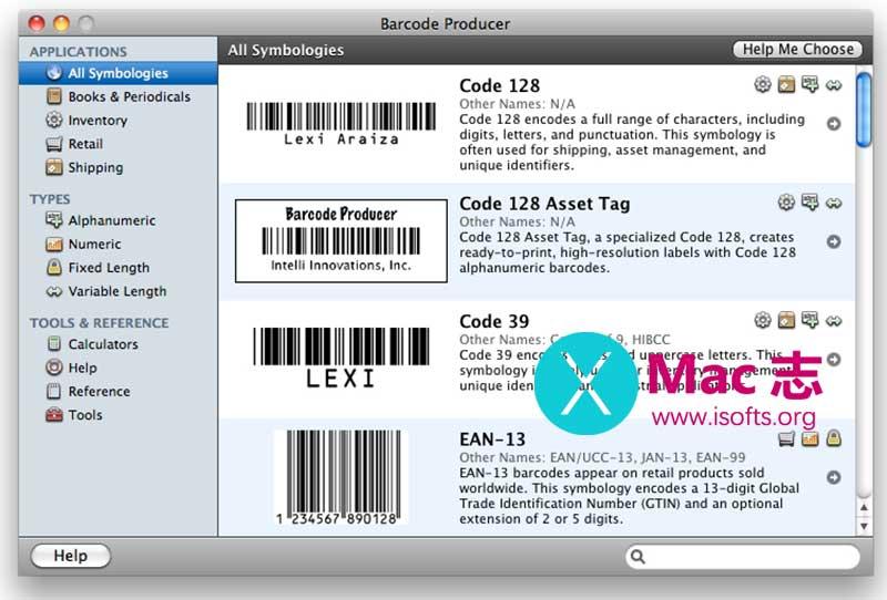 [Mac]条形码设计制作生成工具 :Barcode Producer