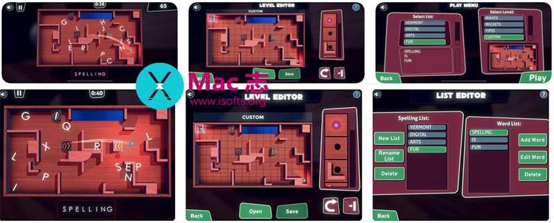 [iPhone/iPad]将英语单词学习和弹珠结合的游戏 : Spin Spell