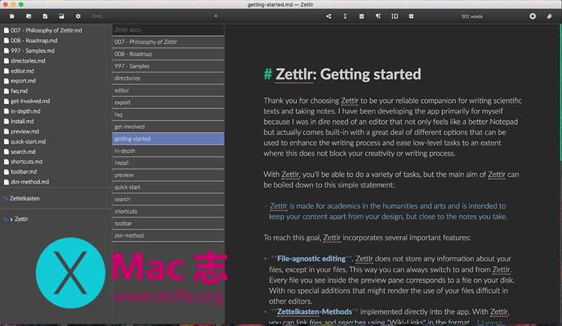 [Mac]免费的Markdown编辑器 :Zettlr