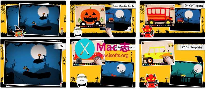 [iPhone/iPad]万圣节汽车设计儿童游戏 : Labo Halloween Car
