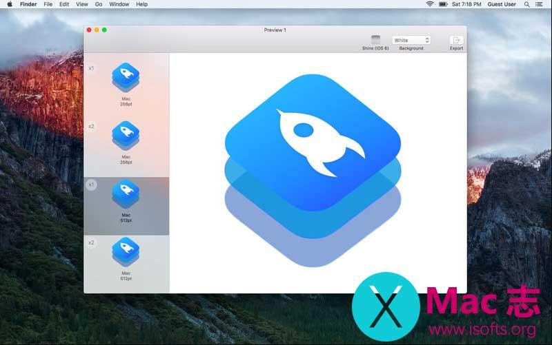 IconKit : Mac平台的icon图标快速制作工具