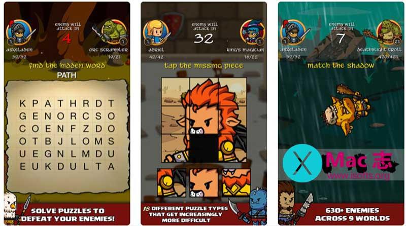 [iPhone/iPad]结合了解谜与角色扮演的元素的游戏 :Puzzlewood Quests Premium