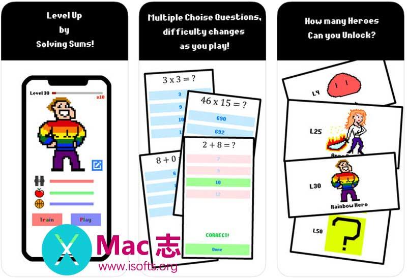 [iPhone/iPad]四则算数运算教育游戏 : Sum Heroes