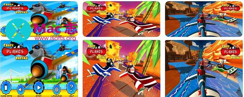 [iPhone/iPad]疯狂飞机竞速游戏 : Crazy Planes Racing Simulator