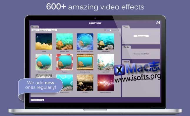 [Mac]视频特效滤镜工具 : SuperVideo