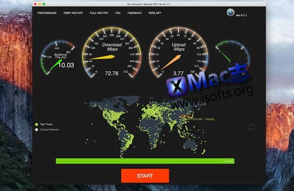 [Mac]网速测试软件 : Romanysoft SpeedTest