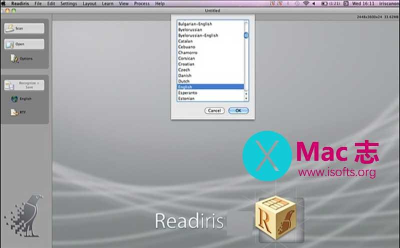 [Mac]强大的光学识别OCR软件 : Readiris Corporate ESD