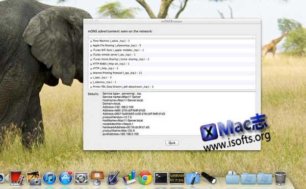 [Mac] bonjour服务项检测工具 : mDNSBrowser