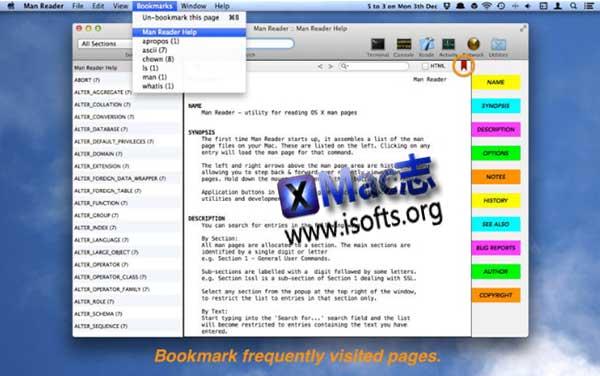 [Mac]用户手册阅读工具 : Man Reader