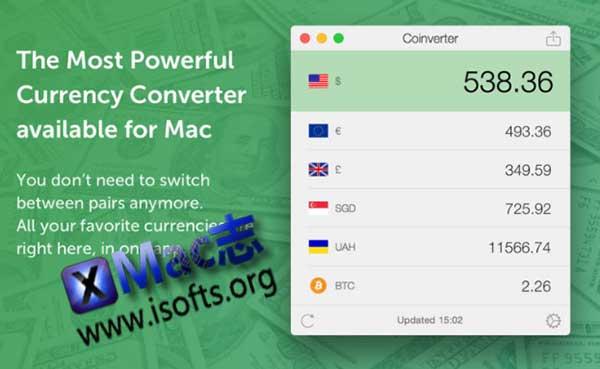 [Mac]汇率查询货币转换工具 : Coinverter