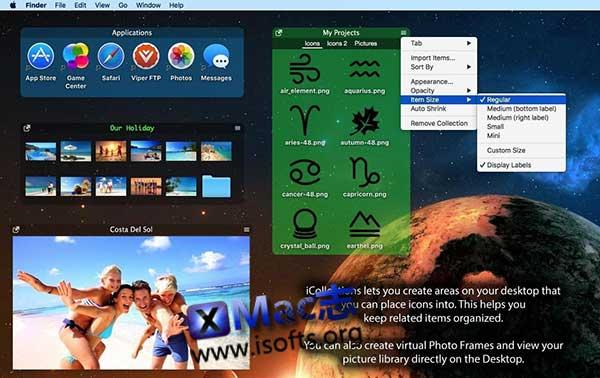 [Mac]桌面图标及文件整理工具 : iCollections