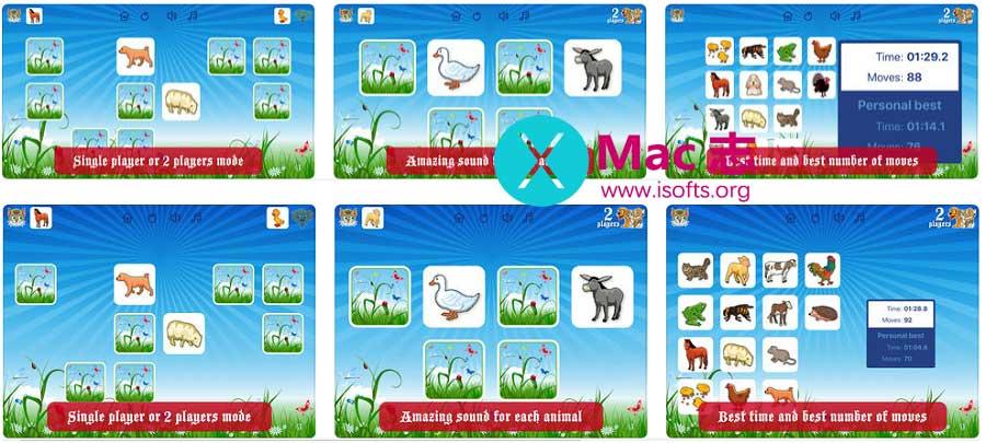 [iPhone/iPad]动物图片卡记忆力游戏 : Farm Flip Fun – Match Animals