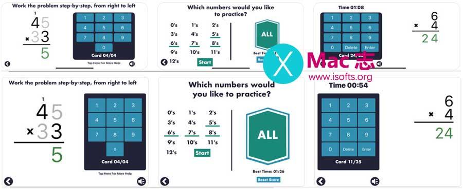 [iPhone/iPad]儿童乘法测验软件 :MathEdge Multiplication