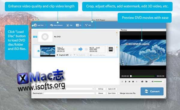 [Mac] DVD视频音频提取工具 : Any DVD Ripper