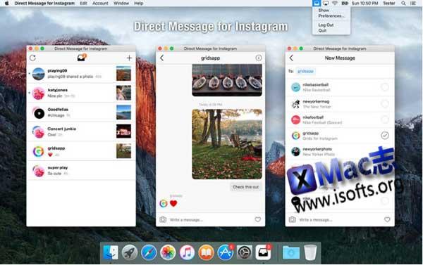 [Mac] Instagram桌面客户端 : Direct Message for Instagram
