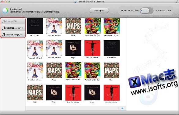 [Mac]音乐文件整理工具 : Tenorshare Music Cleanup