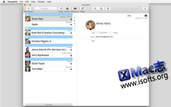 [Mac]联系人通讯录分类整理工具 : GroupsPro