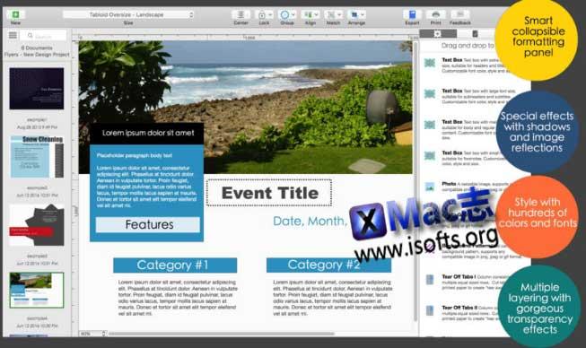 [Mac]海报传单设计工具 : Orion Flyer Maker Pro