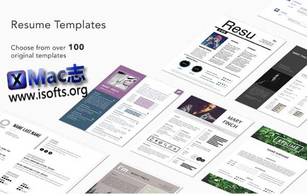 [Mac] Pages模板套件 : Resume Templates