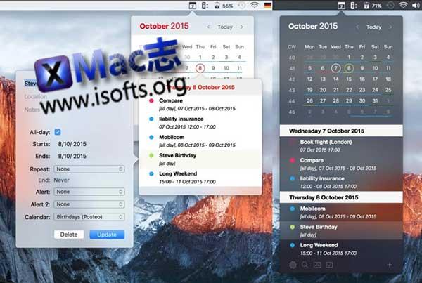 [Mac]菜单栏日历事件和提醒工具 : Calendar 366 Plus