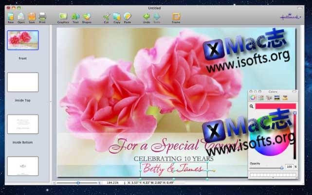 [Mac]贺卡设计制作软件 :Hallmark Card Studio