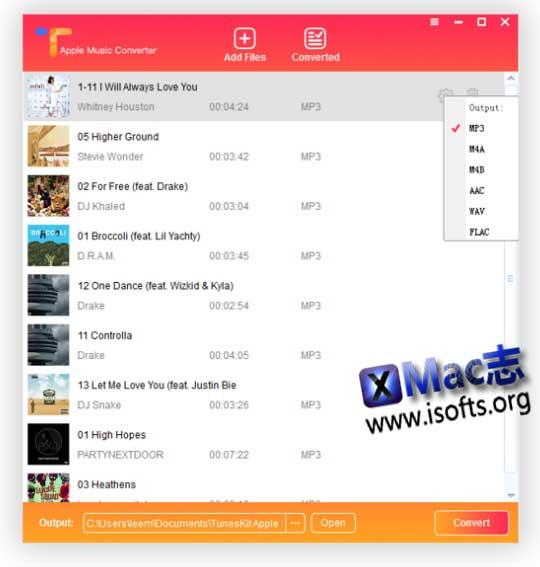 [Mac]苹果M4P音乐DRM去除及格式转换工具 : TunesKit Apple Music Converter