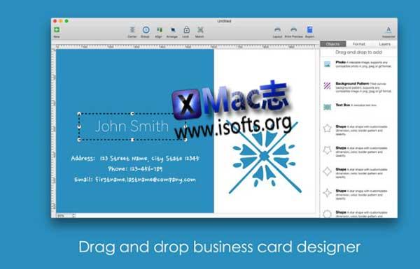 [Mac]名片设计工具 : Blue Penguin Business Card Designer