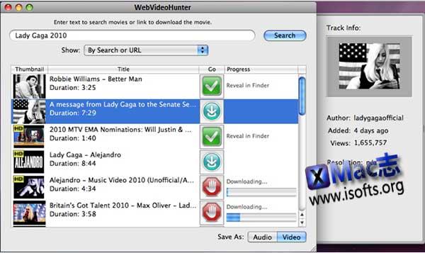 [Mac]在线网络视频下载工具 : WebVideoHunter