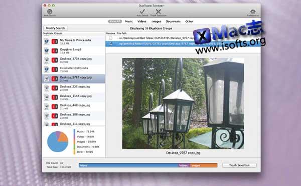 [Mac]查找并删除重复文件 : Duplicate Sweeper