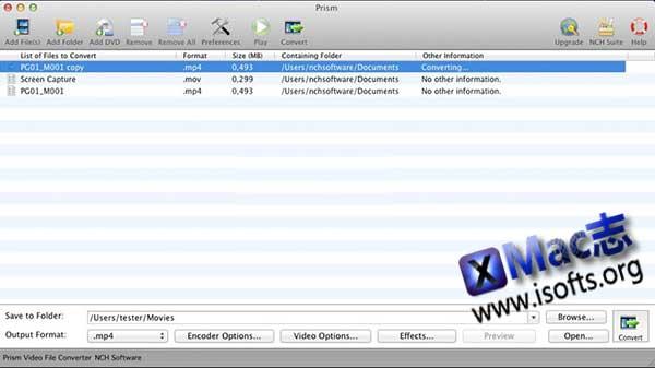 [Mac]视频格式转换工具 : Prism