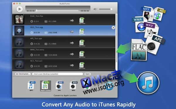 [Mac] 音乐音频格式转换器 : AudioTunes