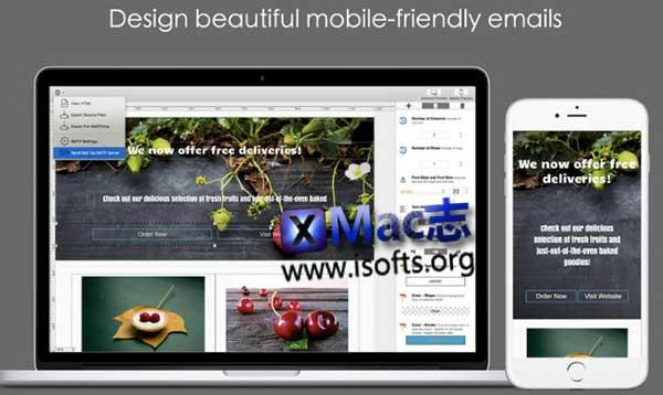 [Mac]响应式邮件内容设计工具 : Dragon Responsive Email Designer
