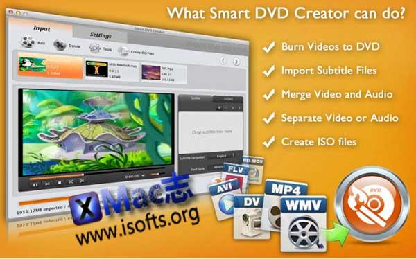 [Mac]视频刻录软件 : Smart DVD Creator