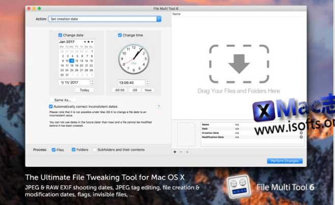 [Mac]批量修改图片文件信息的小工具 : File Multi Tool