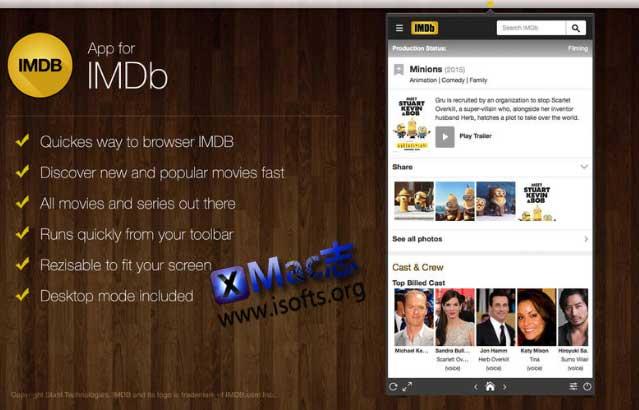 [Mac] IMDB电影数据影评客户端 : App for IMDB