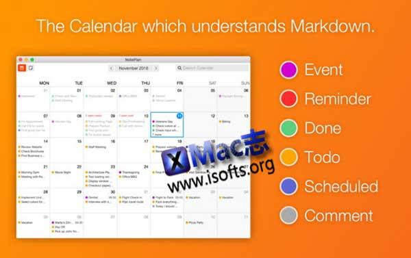 [Mac]支持markdown的日历工具 : NotePlan