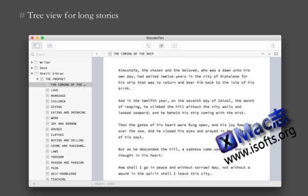 [Mac]优秀的文本写作工具 : WonderPen