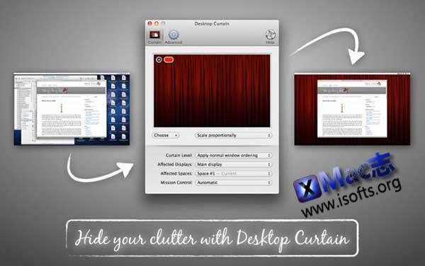 [Mac]桌面文件图标一键隐藏工具 : Desktop Curtain