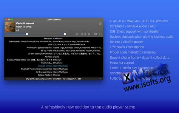 [Mac]无损音乐播放器 : Colibri