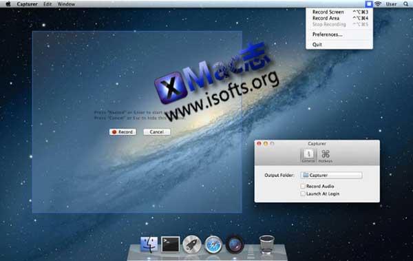 [Mac]轻量级的屏幕录像软件 : Capturer
