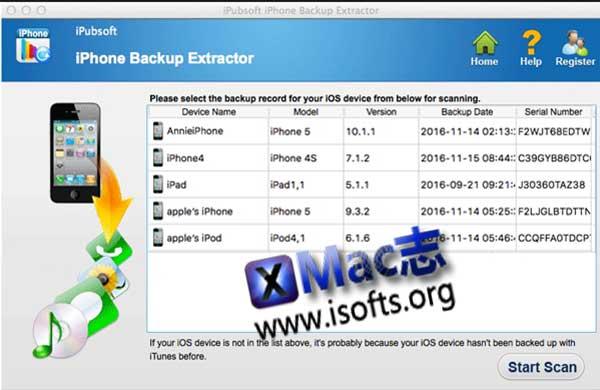 [Mac] iPhone/iPad数据恢复软件 : iPhone Backup Extractor