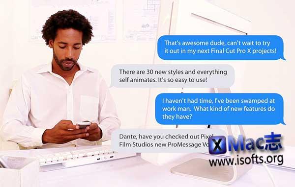 [Mac] FCPX插件之手机短信对话弹窗气泡效果 : ProMessage: Volume 2